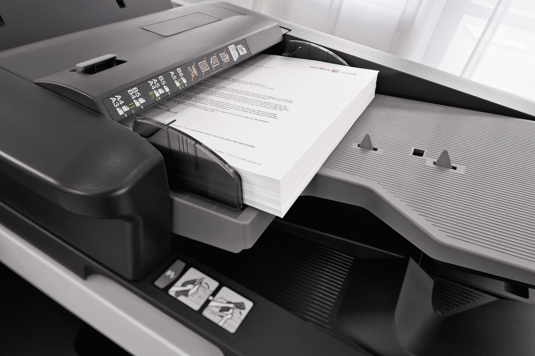 Pormenor do tabuleiro de impressão